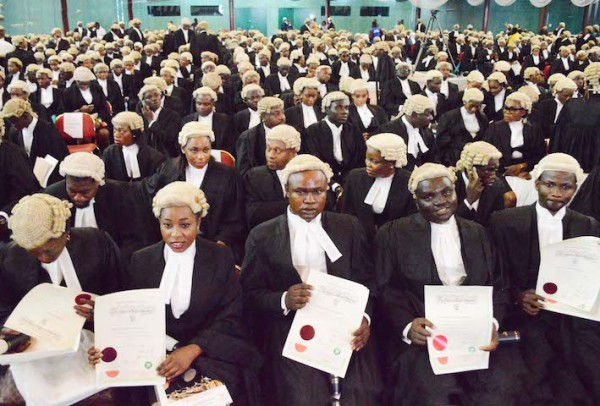 """Courtesy of """"The News"""" http://thenewsnigeria.com.ng/2015/10/3600-lawyers-inducted-into-the-nigerian-bar/"""